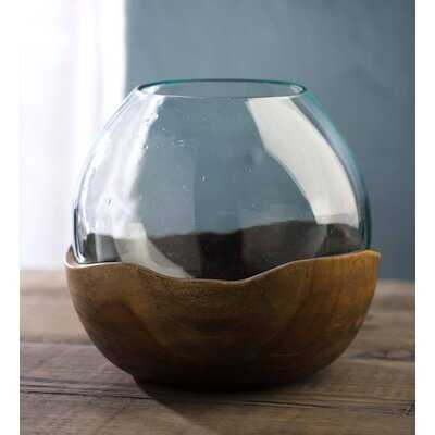 "Jonathan Brown/Clear 7.75"" Glass Table Vase - Wayfair"