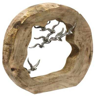 Altenburg Wood Sculpture with Birds - Wayfair