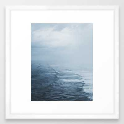 Storms Over The Pacific Ocean Framed Art Print by Luke Gram - Vector White - MEDIUM (Gallery)-22x22 - Society6