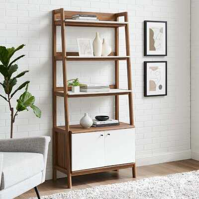 Jiromi Bookshelf In Walnut White - Wayfair
