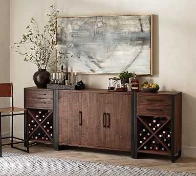 Griffin Reclaimed Wood Buffet & Wine Console Set, Reclaimed Pine - Pottery Barn