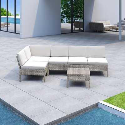 Bromborough 6 Piece Sectional Seating Group with Cushions - Wayfair