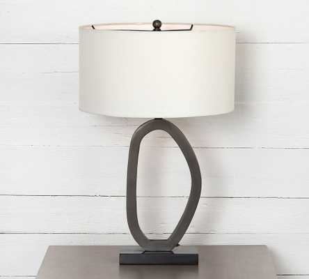 Jasia Metal Table Lamp, Slate Aluminum - Pottery Barn