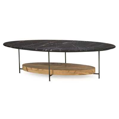 Sonder Living Thomas Bina Coffee Table Table Top Color: Black Marble - Perigold