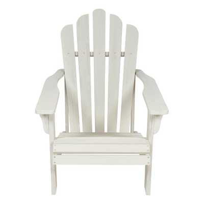 Shine Company Westport II 36 in. Tall Eggshell White Cedar Wood HYDRO-TEX Finish Adirondack Chair - Home Depot