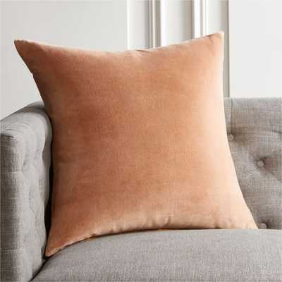 "23"" Leisure Taupe Pillow with Down-Alternative Insert - CB2"