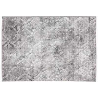 Fiorentino Geometric Gray Area Rug - Wayfair