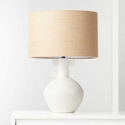 Domani Textured White Table Lamp - CB2