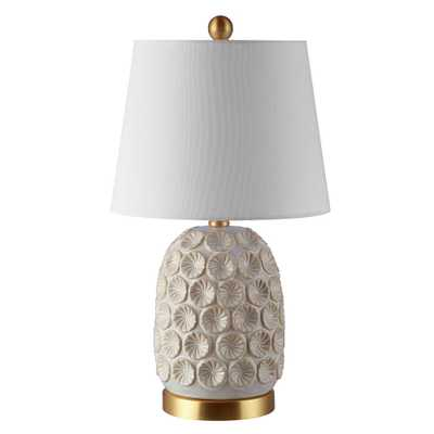 Safavieh Lamson 21 in. Cream Table Lamp - Home Depot
