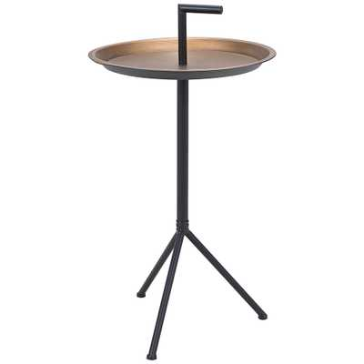 """Zuo Mercy 16"""" Wide Gold and Black Metal Accent Table - Style # 83J33 - Lamps Plus"""