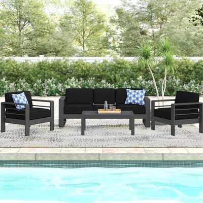 Royalston 4 Piece Sofa Seating Group with Cushions - Wayfair