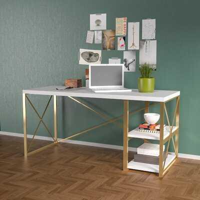 Brek Study Desk, White - Wayfair