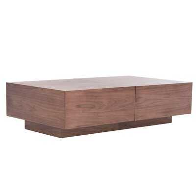 Extendable Block Coffee Table with Storage - AllModern