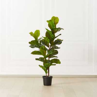 Faux Potted Fiddle Leaf Fig Tree 4' - CB2