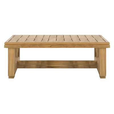 Safavieh Couture Montford Teak Coffee Table - Perigold