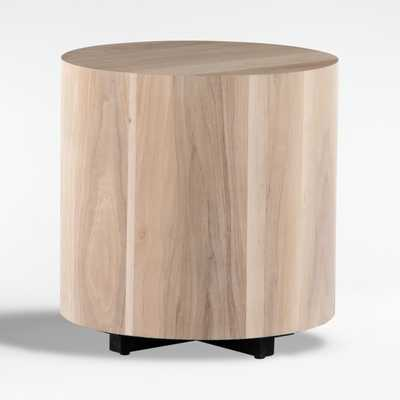 Dillon Ashen Walnut End Table - Crate and Barrel