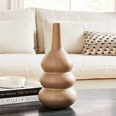 Crackle Glaze Vase, Gray, Tall Totem - West Elm