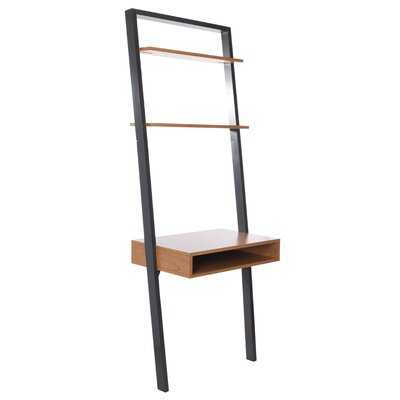 Kamy 2 Shelf Leaning Desk - Wayfair