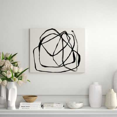 "Chelsea Art Studio 'Motion in Lines IV' Print Size: 36"" H x 45"" W x 2"" D - Perigold"