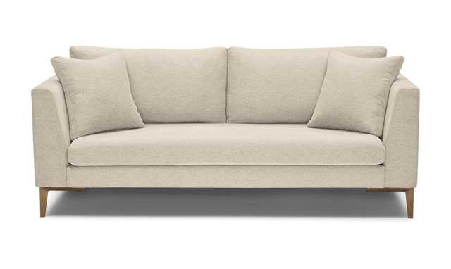 Beige/White Ainsley Mid Century Modern Sofa - Cody Sandstone - Joybird
