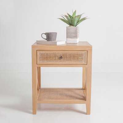 Keira End Table with Storage - Wayfair
