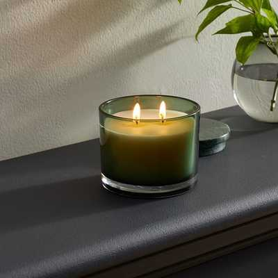 Vitrina Filled Candle, 2 Wick, Sage - West Elm