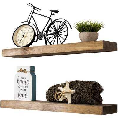 Sporgh 2 Piece Pine Floating Shelf Set - Wayfair