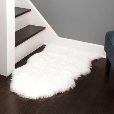 Walk on Me Faux Sheepskin Shag Rug White 2' X 3' Super Soft Faux Fur Rug - Home Depot