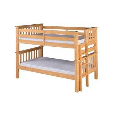 Lindy Mission Twin over Twin Bunk Bed - Wayfair