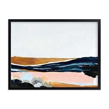 "Sandpit, Full Bleed 24""x18"", Black Wood Frame - West Elm"