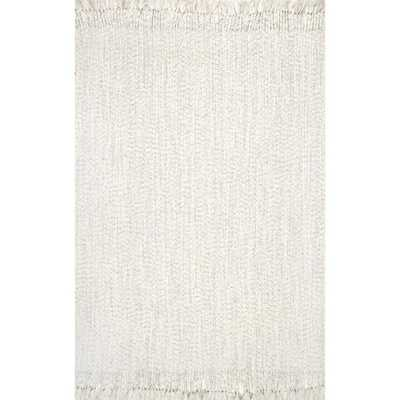 nuLOOM Courtney Braided Ivory 9 ft. x 11 ft. Indoor/Outdoor Area Rug - Home Depot
