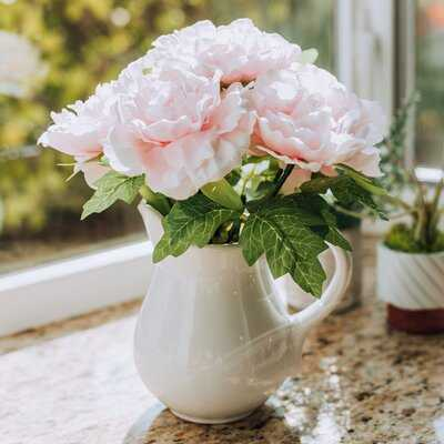 Peonies Centerpiece in Vase - Birch Lane