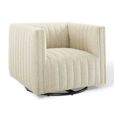 "Burlbaw Tufted Swivel 18"" Armchair - AllModern"