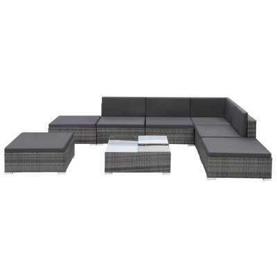 Weymouth Outdoor 8 Piece Sectional Seating Group with Cushions - Wayfair