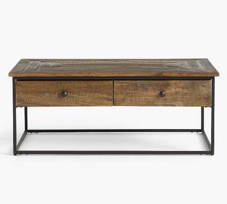 Sanford Rectangular Coffee Table, Cobble Brown - Pottery Barn