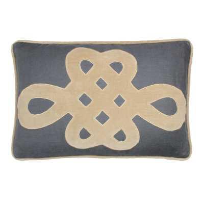 Tourmaline Home Omega Boudoir Linen Lumbar Pillow Color: Charcoal - Perigold