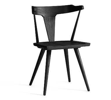 Westan Wood Dining Armchair, Black - Pottery Barn
