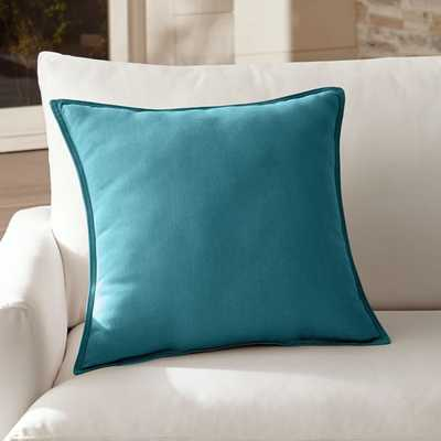 """Sunbrella ® Bold Turquoise 20"""" Outdoor Pillow - Crate and Barrel"""