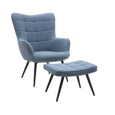 """Tinnin 19.5"""" Lounge Chair and Ottoman - Wayfair"""