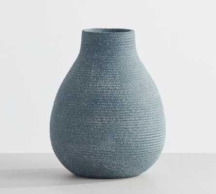 "Bondi Terra Cotta Bud Vase, Blue, Large, 6""H - Pottery Barn"