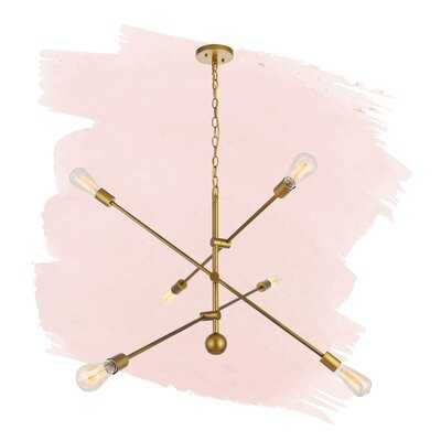 Everett 6 - Light Sputnik Modern Linear Chandelier - Wayfair