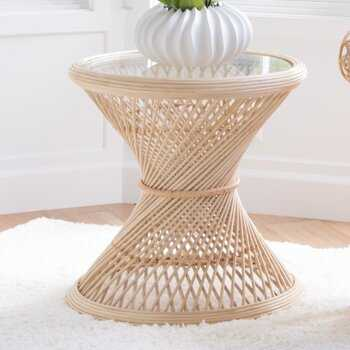 Patton Rattan End Table - Wayfair