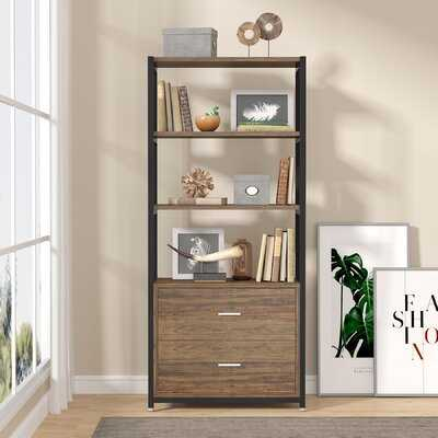 "Bookham 60"" H x 23.6"" W Iron Etagere Bookcase - Wayfair"