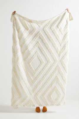 Textured Corell Throw Blanket - Anthropologie
