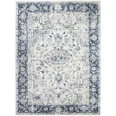 Borton Oriental Blue/Gray Area Rug - Wayfair