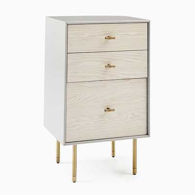 Modernist Wood & Lacquer Storage, Grand Nightstand, Flax-Winter Wood - West Elm