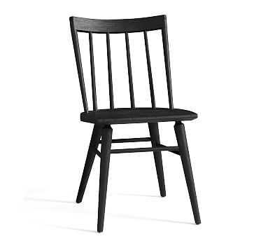 Shay Dining Chair, Black - Pottery Barn