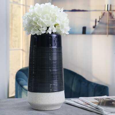 Rubino Blue Indoor / Outdoor Ceramic Table vase - Wayfair