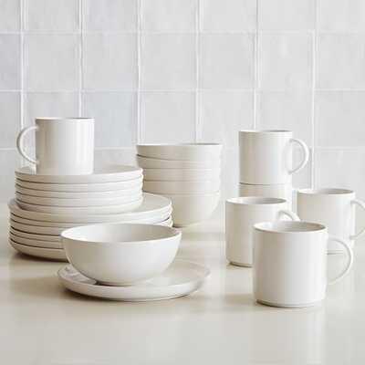 Dinnerware Stoneware White, Set of 24 - West Elm
