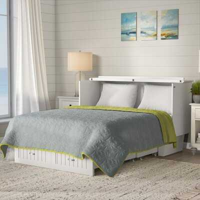 Graham Queen Storage Murphy Bed with Mattress - Wayfair
